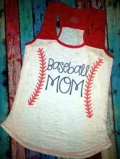 BASEBALL Stitches MOM Tank Top Feminine Fit by BaseballMomBoutique, $29.99