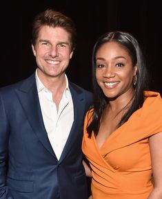 Tom Cruise Photos - Actors Tom Cruise (L) and Tiffany Haddish attend the CinemaCon 2018 Paramount Pictures Presentation Highlighting Its Summer of 2018 and Beyond at The Colosseum at Caesars Palace during CinemaCon, the official convention of the National Association of Theatre Owners, on April 25, 2018 in Las Vegas, Nevada. - CinemaCon 2018 - Paramount Pictures Presentation Highlighting Its 2018 Summer And Beyond