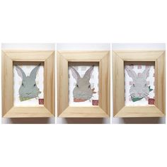Happy April!   I made series of rabbit art card collection just in time for the Easter month!   Here are three rabbits, and there are two more bunnies in the shop!  #bunny #rabbit #etsy