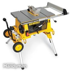 DeWalt DW744XRS: Portable Table Saw Reviews http://www.familyhandyman.com/tools/table-saws/portable-table-saw-reviews/view-all