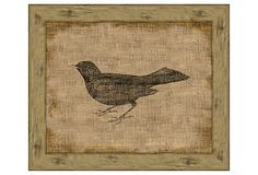 Ohhhhh I am getting excited.... I could so make this.  Blackbird On Antique Linen on OneKingsLane.com