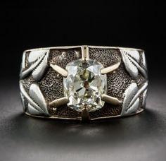Art Nouveau Diamond Ring - 2.50CT Cushion Cut