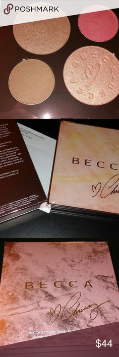 BNIB LE BECCA COSMETICS x Chrissy Teigen Glow Face Brand new, never used or swatched, LE BECCA Cosmetics x Chrissy Teigen Glow Face Palette! Stunningly gorgeous! Gorgeous for Summer! Comes with receipt upon request! Terrific for travel!  Please contact me with questions. No trades! No returns! I do bundle items as well. Happy Shopping!  #urbandecay #foolingaround #limitededition #eyeshadow #palette #makeup #becca #chrissyteigen #highlighter #blush #strobe BECCA Makeup Face Powder