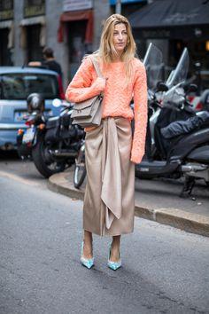 On the street at Milan Fashion Week. Photo: Chiara Marina Grioni