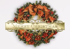 Christmas Once Again - Holiday Greeting Cards- Merry Christmas wishes in gold foil will warm your family and friends when you send this holiday card adorned with a traditional christmas wreath. The Office Gal