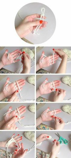 Finger knitting. I've done this for years. I make scarves and blankets with the