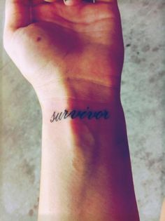 Cancer Survivor Tattoos On Wrist