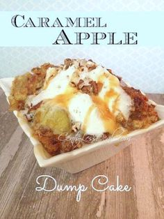 Caramel Apple Dump cake recipe with 4 ingredients! - CentsLess Deals