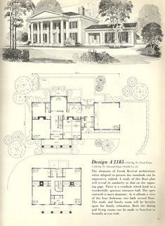 vintage house plans southern