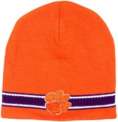 Clemson Tigers Mens Dash Knit Beanie ** Continue to the product at the image link.  This link participates in Amazon Service LLC Associates Program, a program designed to let participant earn advertising fees by advertising and linking to Amazon.com.