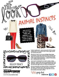 26c14e986f85 Get the Wild look w  Ellen Tracy Lima · Women s EyewearEllen ...