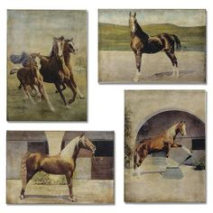 A Horse Of Course: 12 x 18 Print Reproduction, Set of Four