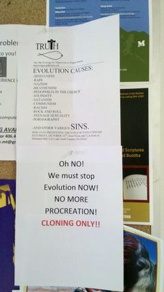 Evolution causes rock and roll, stupidity, pedophilia, and pornography.  Asshats!