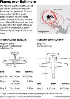 Surveillance planes spotted in the sky for days after West Baltimore rioting - The Washington Post