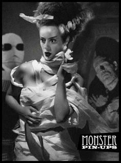 Monster PinUps - The Bride of Frankenstein Beetlejuice, Frankenstein's Monster, Monster Mash, Monster Squad, Monster Party, Queen Anime, Pin Up, Famous Monsters, Scary Monsters