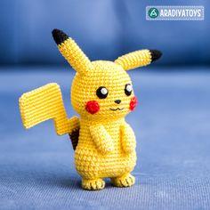 Häkelanleitung für Pikachu von AradiyaToys made by AradiyaToys via DaWanda.com