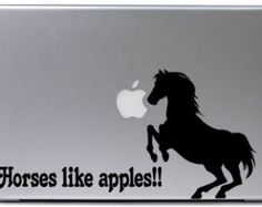 Laptop decal, notebook sticker, computer decal, quote decal, horse decal, gift, college, vinyl letters, 5 x 14 inches