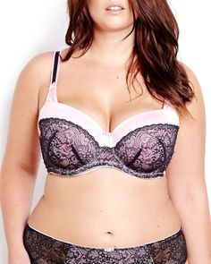 So sexy! Balconet bra features shiny microfiber and lace detail at cups, picot elastic and bow details. Hook & eye closure. Pair with its matching panty!
