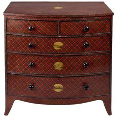A Rare Tartan Ware Chest ~ Scotland, 19th C.| From a unique collection of antique and modern commodes and chests of drawers at http://www.1stdibs.com/furniture/storage-case-pieces/commodes-chests-of-drawers/