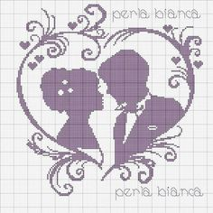 Wedding couple x-stitch