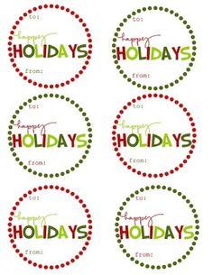 Free Printable Christmas Gift Tags  {5 varieties} by joanne