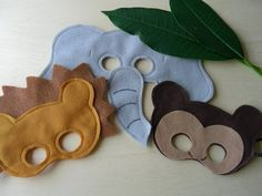 Safari Felt Masks | how fun to make these for dress up fun