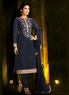 Readymade Navy Blue Chanderi Silk Straight Cut Suit #readymade #anarkalisuit #officewear #long #salwarkameez #suit #suitsonline #traditional #straightcut #fullsleeve #contemporary #womenwear #womenclothing #nikvik #usa #designer #australia #canada #malaysia #UAE #freeshipping price-US$ 85.09.Sign up and get USD100 worth vouchers.Offer is valid for limited period.
