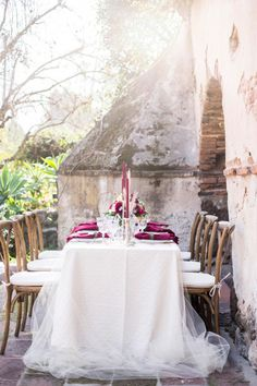 Polished rustic table: http://www.stylemepretty.com/california-weddings/2015/05/13/old-mill-villa-inspired-shoot/ | Photography: Sally Pinera - http://www.sallypinera.com/