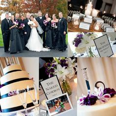 Cincinnati, Ohio  #purple #black #white #wedding
