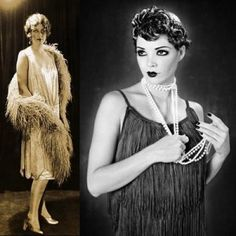 In the 1920's flapper dresses were introduced, as fun party dresses and a behavior that you can do anything. The style of a lot of these dresses had fringe on them which is when fringe was first introduced and this style of fringe is now used in everyday clothing, accessories. etc. The concept of fringe helps move a garment in a more fun way along with adding more detail to a garment. - Christine D. 1-19-17