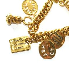 Chanel Charm Bracelet | From a unique collection of vintage  at http://www.1stdibs.com////