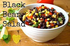 Black Bean Salad - 21 Day Fix Recipes - Clean Eating Recipes - Healthy Recipes - Dinner - Side Sides - Snacks - 21 Day Fix Meals - www.simplecleanfitness.com