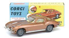 Mettoy Corgi diecast No.310 Chevrolet Corvette Stingray Rare Gold
