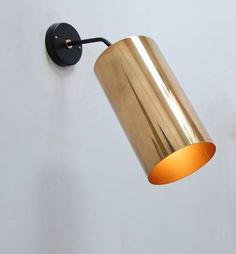 Boris Lacroix; Brass and Enameled Metal Wall Light, 1950s.