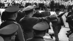 Various Scenes – Summary: POSTHUMOS AWARDS: CU, Swastika emblem, CUs, display of medals – men at attention. Home Guard, The Third Reich, Summary, Ww2, Awards, Display, Film, Floor Space, Movie