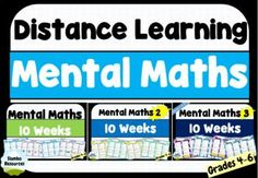 This bundle includes 30 weeks of mental maths which is great for distance learning. Set weekly tasks and release the answers at the end of the week! The 30 weeks covers a range of mathematical concepts from grades 4-6. No prep is required and all the answers are there! Kids Math Worksheets, Math Activities, Teaching Resources, Math Memes, Math Humor, Love Math, Fun Math, Mental Maths, 30 Weeks