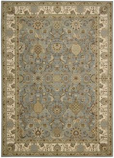 Kathy Ireland Lumiere Stateroom Slate Blue Area Rug By Nourison KI602 SLTBL (Rectangle)