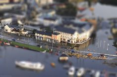 "Carrick-on-Shannon floods with ""Miniature Fake"" effect added.. #Photoshop"