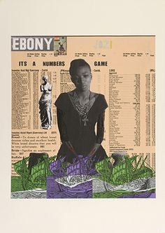 Godfried Donkor, Ebony Jo'burg edition, 2014, collage on paper. COURTESY THE ARTIST