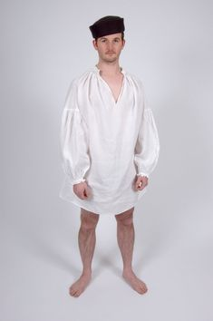 Pattern for Men's Early Tudor Shirts - Large Sizes on Etsy, $34.89
