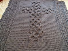 Ravelry: Chunky Celtic Cross cable afghan / blanket / throw pattern by Cosy In Church