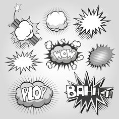 Comic Book Images. Free | Comic Book Explosion Plop | Free Vector Graphic Download