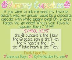 Yummy Cupcakes | dafont.com
