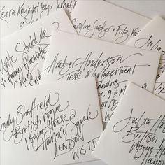Trendy Wedding Invitations Envelopes Calligraphy Hand Lettering Ideas Informations About Tr Calligraphy Envelope, Envelope Art, Wedding Calligraphy, Calligraphy Fonts, Script Fonts, Wedding Fonts, Calligraphy Practice, Beautiful Calligraphy, Wedding Invitation Envelopes