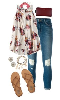 """""""I got everything I'm asking for"""" by sunshine915 ❤ liked on Polyvore featuring J Brand, Free People, American Eagle Outfitters, Billabong, Kendra Scott, DesignSix, Carolee and Paul Smith"""