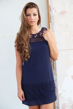 Leave A Trace Crochet Dress - The Rage - 1