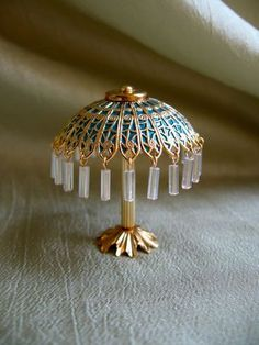 ELECTRIC TIFFANY TABLE LAMP BLUE SHADE, by Patre/niceatees... 22.99 on eBay