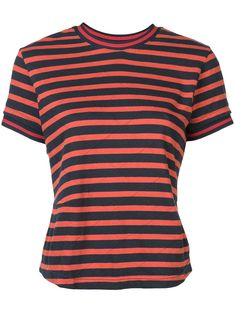 ff658bff6 Details about Ladies Black Blue Red White Striped T Shirt Womens ...