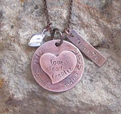 Girl Scout Daisy Scout Hand Stamped Troop by lilybrookevintage, $32.00