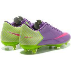 Nike Mercurial Vapor X FG Cleats Medium Purple Hot Pink Fluorescent Green 825a1afe1d